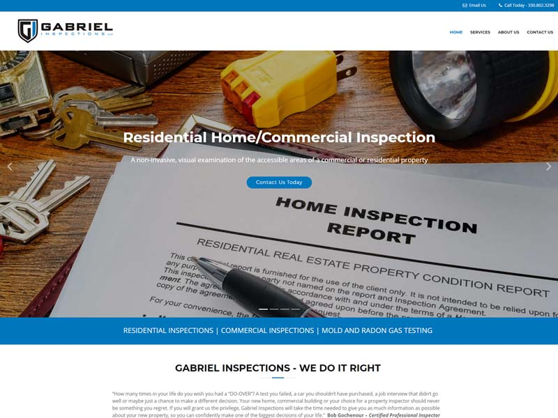 Website Design and Development for Gabriel Inspections
