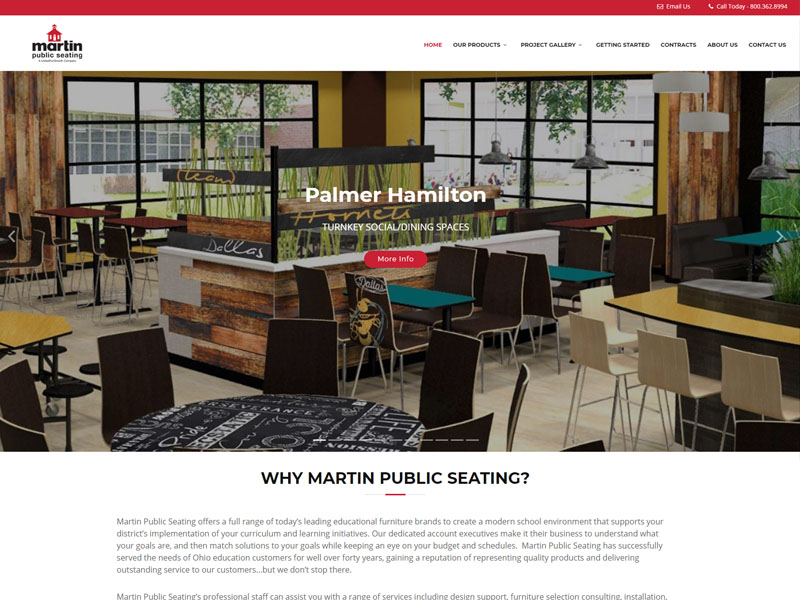 Website Design and Development for Martin Public Seating