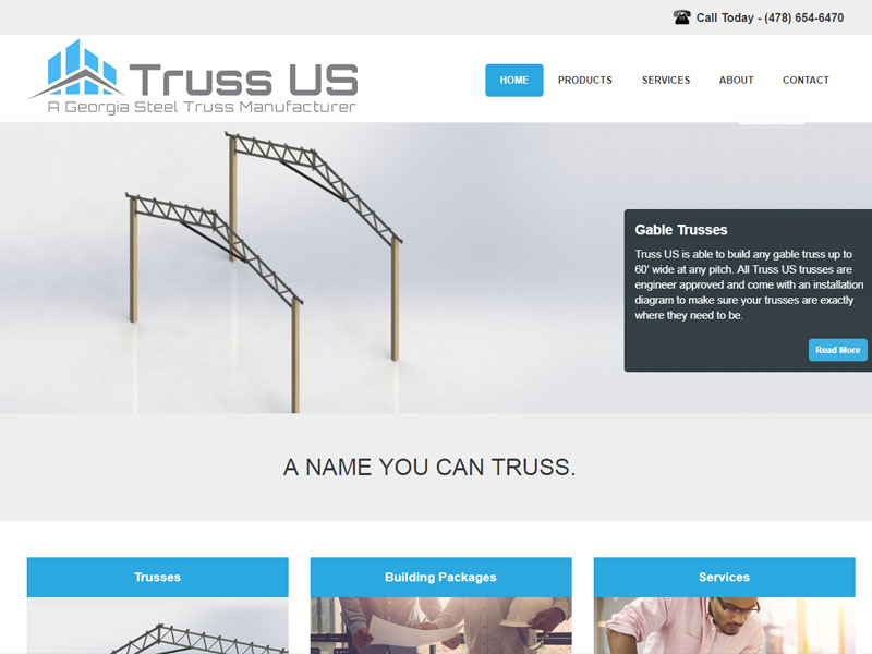 Website Design and Development for Truss US